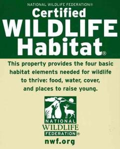 Cert Wildlife Habitat Sign - small
