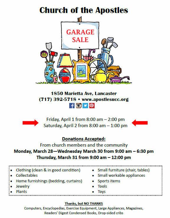 COA garage sale2